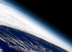 The atmosphere from space