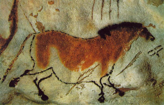 cave painting of a wild horse