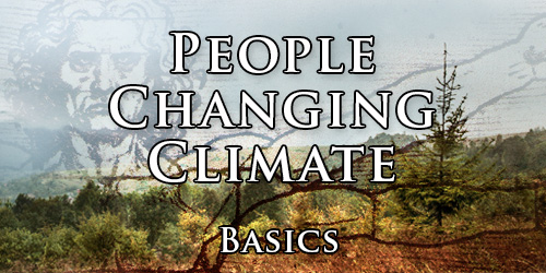 People changing climate. Basics.